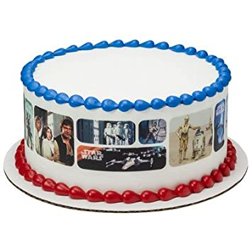 Amazoncom Star Wars Classic Scenes Cake Strips Licensed Edible