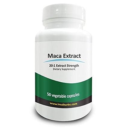 Real Herbs Extracto de raíz de maca - Derivado de 15.000mg de raíz de maca