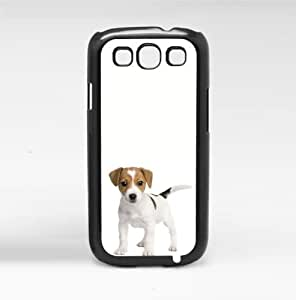 Cute Puppy on White Background Hard Snap on Phone Case (Galaxy s3 III)