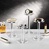 MyGift Premium Clear Round Acrylic Pedestal Display Riser Stands, Set of 4