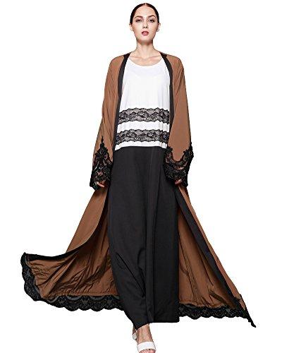 brown crochet dress - 1