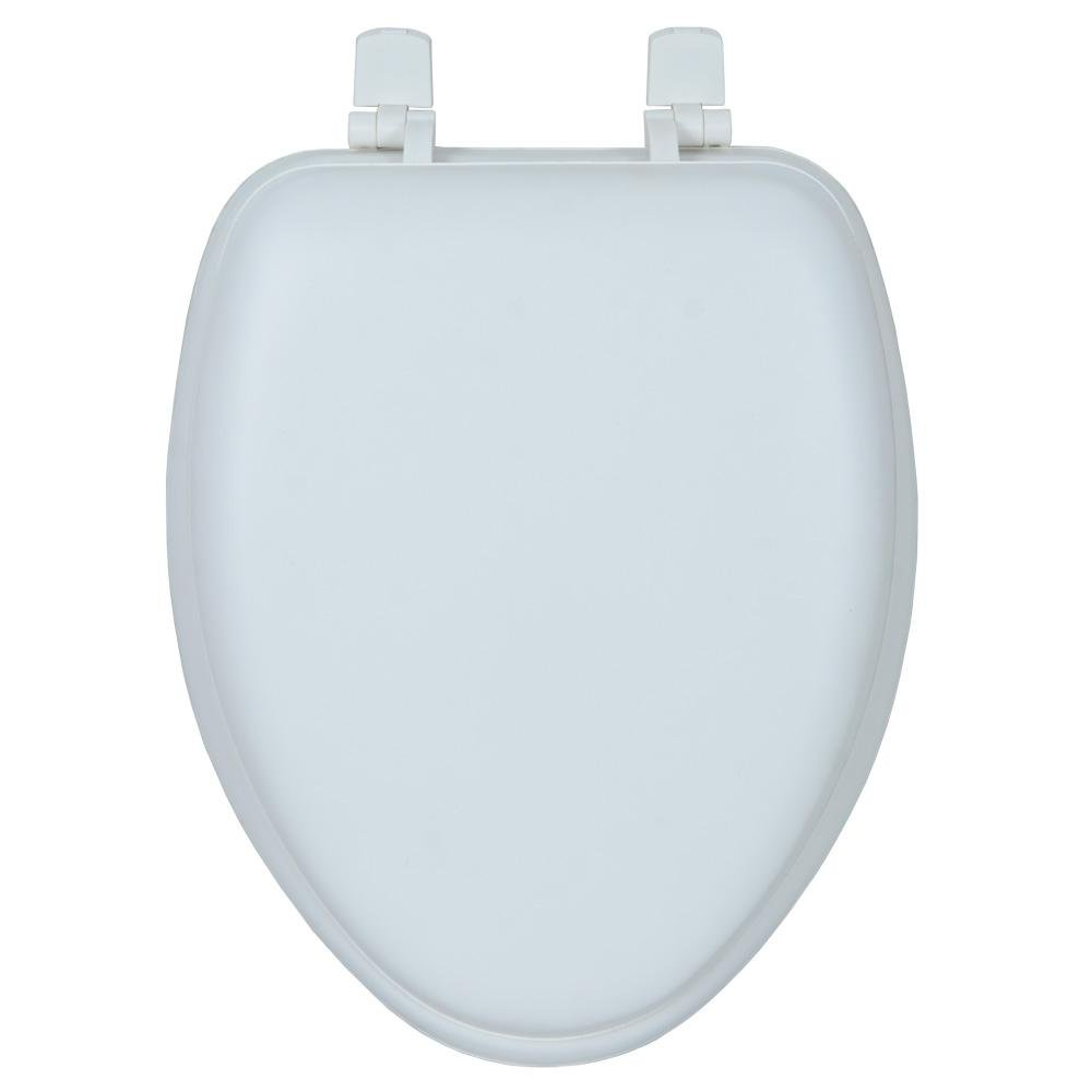 Glacier Bay Elongated Closed-Front Toilet Seat in White