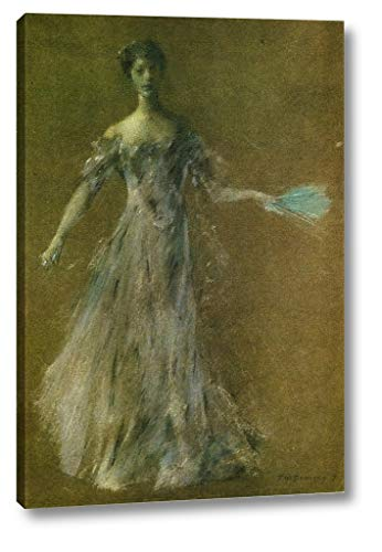 Lady in Lavender Dress by Thomas Wilmer Dewing - 9