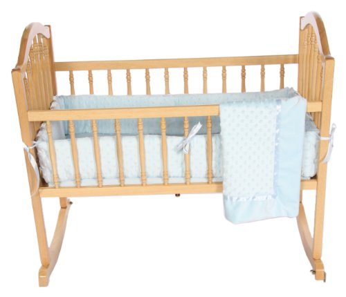 Baby Doll Bedding Heavenly Soft Cradle Set, Blue by BabyDoll Bedding