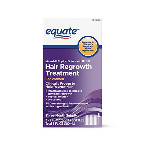 Equate Hair Regrowth Treatment for Women 3 Month Supply   USA, 2 - Treatment Minoxidil
