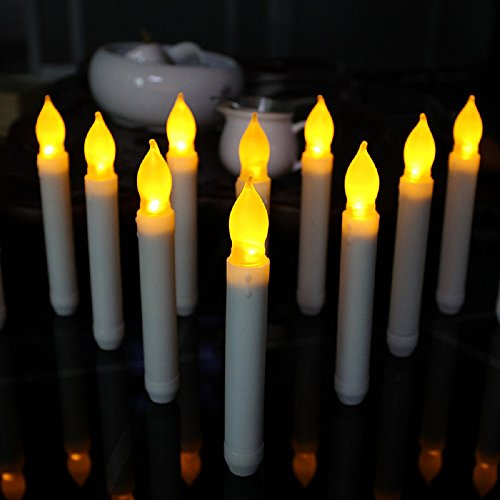 Double Candle (12 PCS Flameless Ivory Mini Dipped Flickering LED Taper Candles/candle lights AA Battery LED candles /electronic candless)