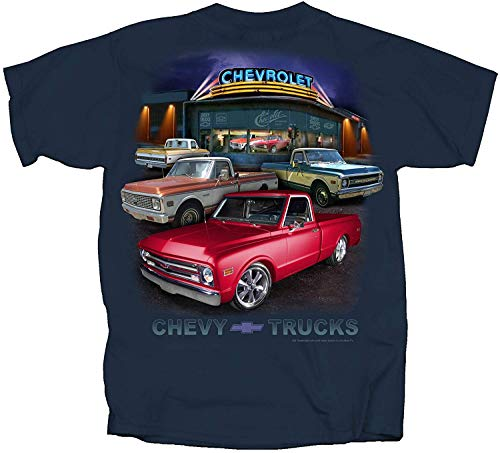 Wolves 967 to 1972 Chevy Pickup Trucks T-Shirt Navy