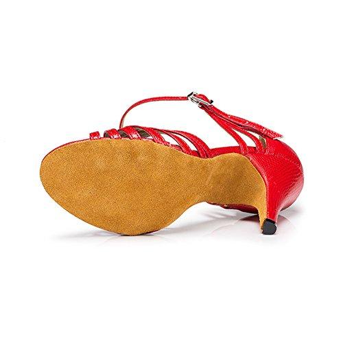 Salsa 3 Toe Practice Heel 3 Ballroom Misu Tango Red Peep With Dance Sandals Womens Latin Shoes 0x4E0nXqOp