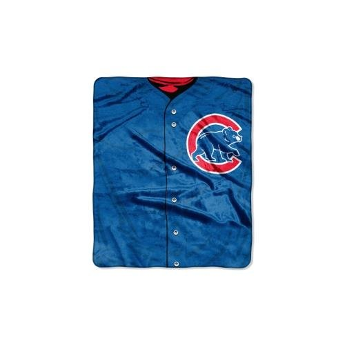 Cubs Throw Blanket - The Northwest Company MLB Chicago Cubs Jersey Plush Raschel Throw, 50