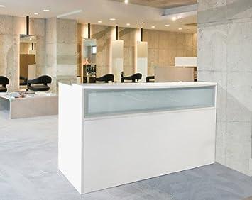 white salon reception desk - Salon Reception Desk