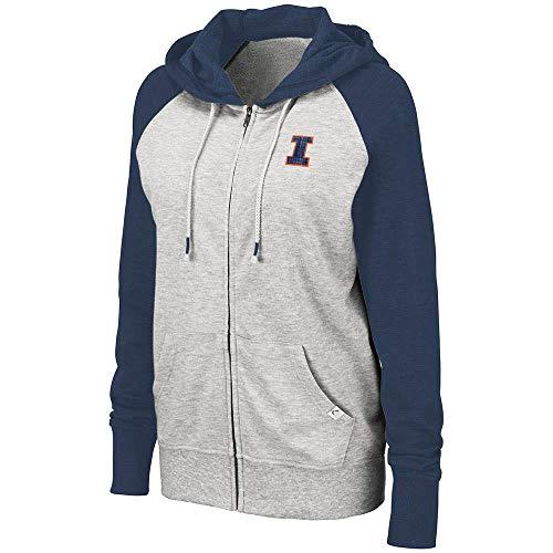 Colosseum Womens Illinois Fighting Illini Trento Full Zip Hoodie - S - Illinois Womens Hoody Zip Sweatshirt