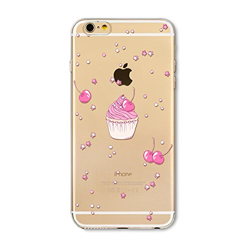 iPhone 5S Cover Silicone, Protettivo Trasparente TPU Shell Case per 4.0 Apple iPhone 5/iPhone SE/iPhone 5S Slim Flessibile Morbide Gel Anti-graffio Crystal Clear Gomma Bumper Case Modello Estate Gela