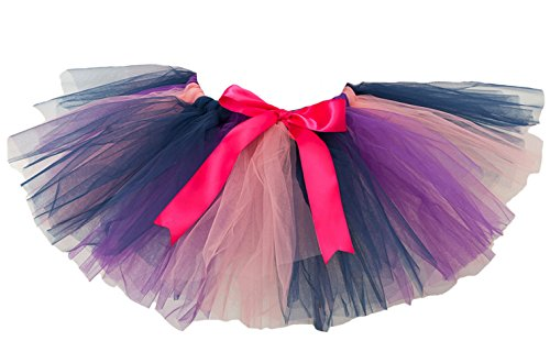 CJ Fashion Girls Layered Ballet Tulle Tutu Skirt Purple Mini Tutus for Toddler Girl (J&l Dance Costumes)