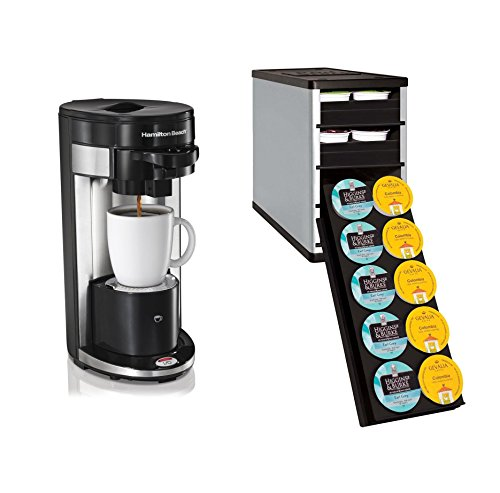 Single Serve Coffee Maker That Uses Ground Coffee : Hamilton Beach FlexBrew Single Serve Ground & K-Cup Coffee Maker with Organizer