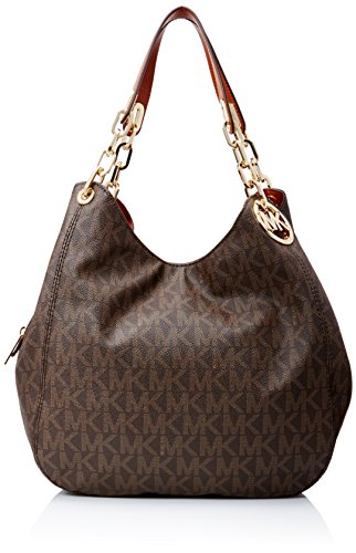 Michael Kors Fulton Large Shoulder Tote Brown ()