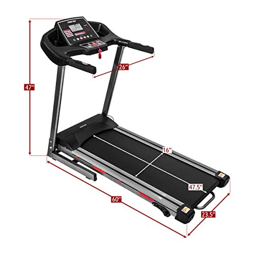 Merax Folding Treadmill for Home Use, Easy Assembly Compact Running Machine (1.5HP) 7