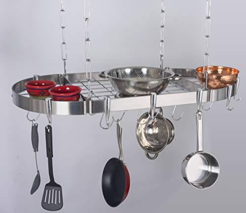 (Concept Housewares PR-40901 Hanging Pot Rack, 38