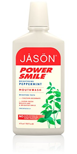 Jason Natural Cosmetics  Powersmile Mouthwash, Peppermint, 16 oz (Peppermint Mouthwash)