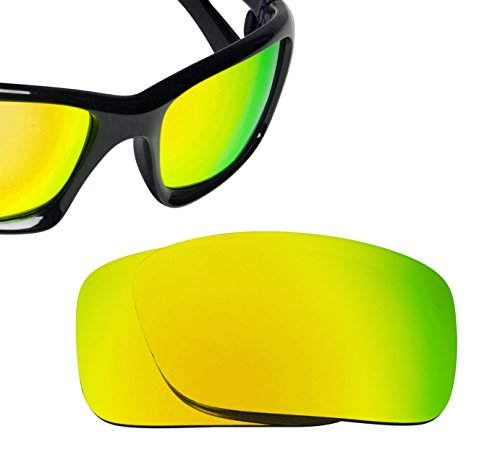 Best SEEK OPTICS Replacement Lenses Oakley CRANKCASE - Polarized 24K Gold - Crankcase Polarized Oakley Lenses