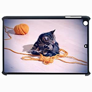 Customized Back Cover Case For iPad Air 5 Hardshell Case, Black Back Cover Design Cat Personalized Unique Case For iPad Air 5 wangjiang maoyi by lolosakes