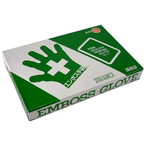 エンボス手袋 5本絞り(使い捨て手袋国産品) 東京パック S 200枚入x20箱入り B01LALEF12