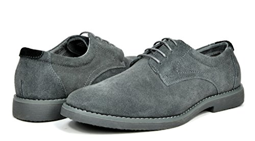 ngle Grey Suede Leather Lace Up Oxfords Shoes - 8.5 M US (Lace Up Suede Oxfords)