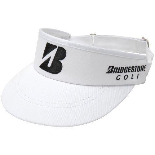 - Bridgestone Mens Tour High Crown Visor White