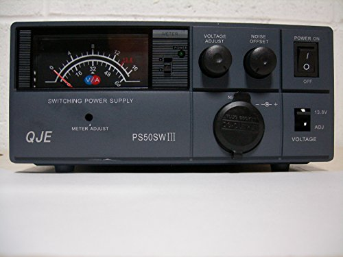 Regulated 50 Amp Compact Power Supply 13.8Vdc (9-15V Adj) w/ Volt - Amp Meter!