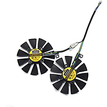inRobert A Pair Graphics Card Cooling Fan for ASUS AREZ Expedition RX 570, Mining RX 470, GTX 1060/1070/RX 480 Dual Series (PLD09210S12HH)