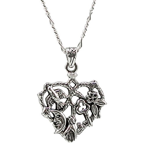 """On The Fringe Cimaruta Protective Charm Heart Amulet Pendant with 18"""" Chain 3131"""