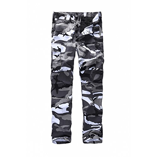 BACKBONE Mens Fashion Bright Camouflage Cargo Pants Military Combat Style BDU Pants (XXL, City Camo)