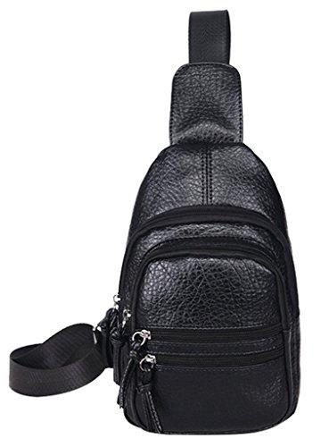 Drasawee - Shoulder Bag For Men Silver Black Silver