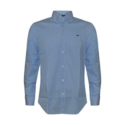 Vineyard Vines Men's Whale Shirt Button Down Dress Shirt (Swordfish Stripes, L)