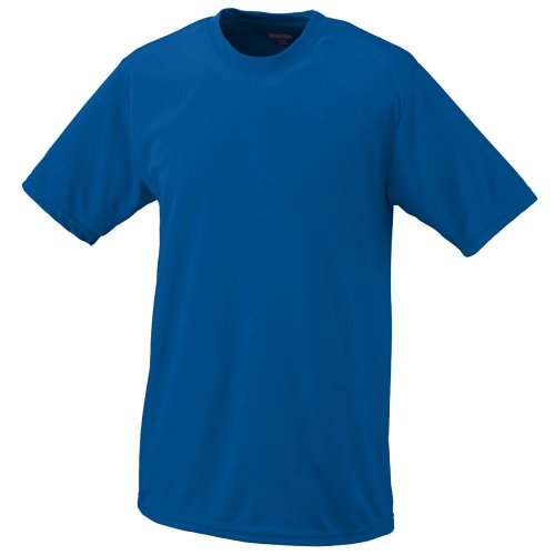 (Royal Adult 2XL Moisture Management Wicking Performance Cool and Comfortable Athletic Short Sleeve Shirt & Undershirt (All Sports: Baseball, Softball, Football, Soccer, Lacrosse, Volleyball, Track,)