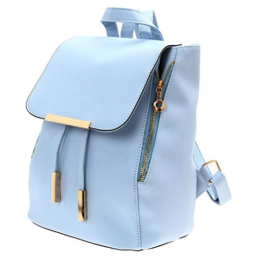 for Blue Tinksky girls Girls Women Shoulder women Backpack Bag Christmas Light PU Gift Bag Travel Leather Ladies Birthday qqAHTOwnBx