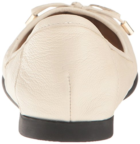 ... Nine West Kvinners Quinney Skinn Ballett Flat Off White ...