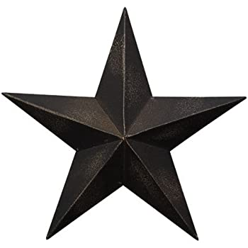 Bon CWI Gifts Barn Star Wall Decor, 24 Inch, Antique Black