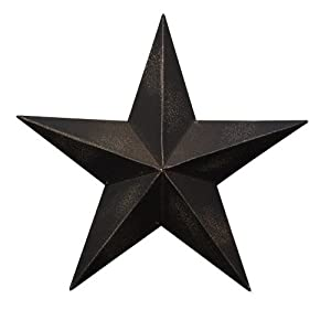 CWI Gifts Barn Star Wall Decor, 24 Inch, Antique Black Part 38