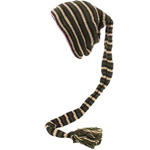 hombre Hats Black Beige Gorro Green Rayas Loud de punto para 6fHYcqAw