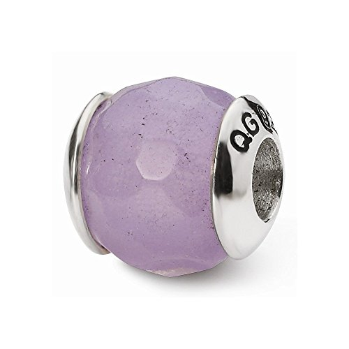 Sterling Silver Reflections Lavender Quartz Stone Bead ()