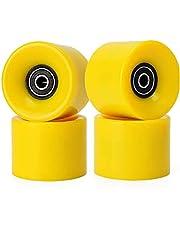 Straat Skateboard Wheels Anti-slip Pu Longboard Wielen met Abec 9 Bearings 60x45mm 78a Black 4 stuks