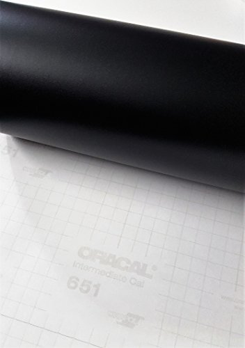 "Roll of Oracal 651 Matte Black Vinyl for Craft Cutters and Vinyl Sign Cutters (12""x10FT)"