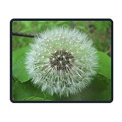 Dandelion Clock On Leaves Eco Friendly Cloth with Neoprene Rubber Liil Mouse Pad Desktop Mousepad Laptop