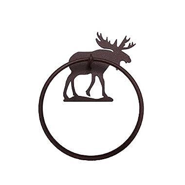 Walking Tall Moose Towel Ring- Brown