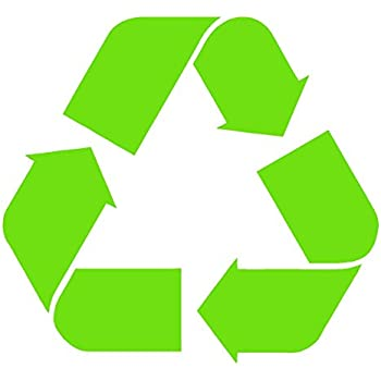 Amazon Recycle Logo Lime Green 5 Sticker Go Earth Vinyl