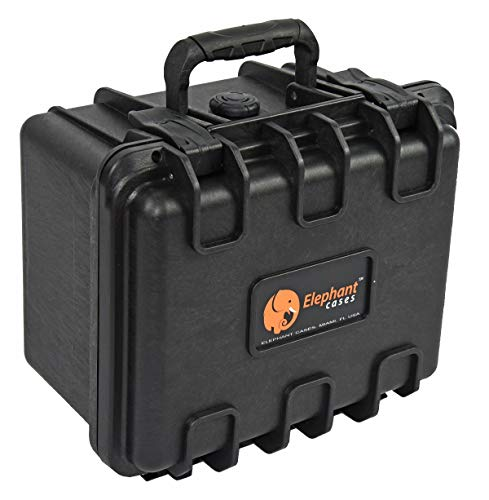 Elephant E130 Case with Foam for Camera, Video, Guns, Test and Metering Equipment Waterproof Hard Plastic Case