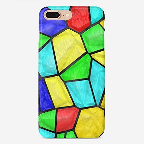 Shimmer Stitch (ZHIQCH iPhone 7/8 Plus Case Colorful Mosaic Stained Glass Slim Fit Hard Plastic Cover Cases Full Protective Anti-Scratch Resistant Compatible with iPhone 7/8 Plus)