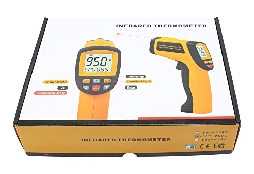 Non-Contact Digital Laser Infrared Thermometer Electronic Thermometer Temperature Gun -50 to 550℃ (-58 to - Tns Gun