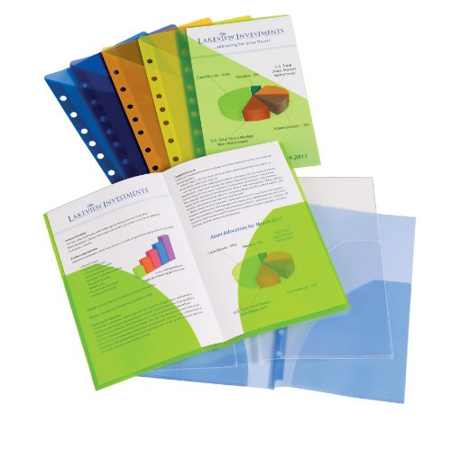 Avery Mini Binder Pockets, Fits 3-Ring And 7-Ring Binders