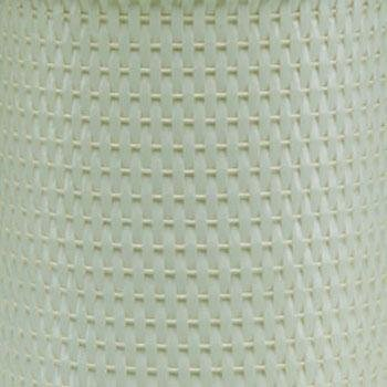 Redmon Chelsea Collection Round Wicker Wastebasket, Herbal Green